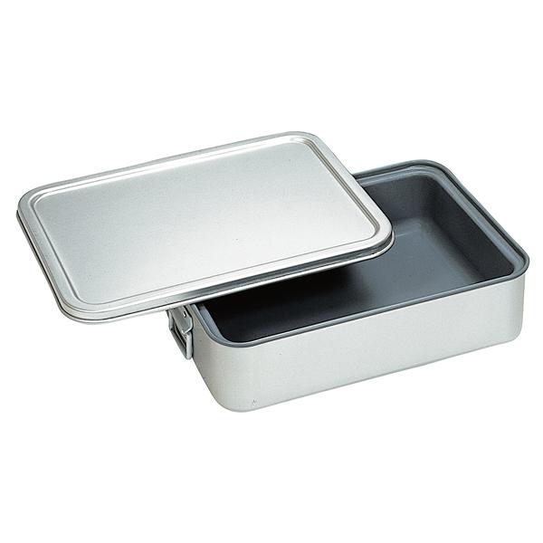 アルマイト 角型二重米飯缶(蓋付)(内面スミフロン加工) 264-DS 【メイチョー】