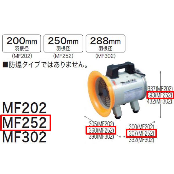 【 マキタ 電動工具 】 送排風機 MF252 【 DIY 作業用 工具 プロ 愛用 】 メイチョー