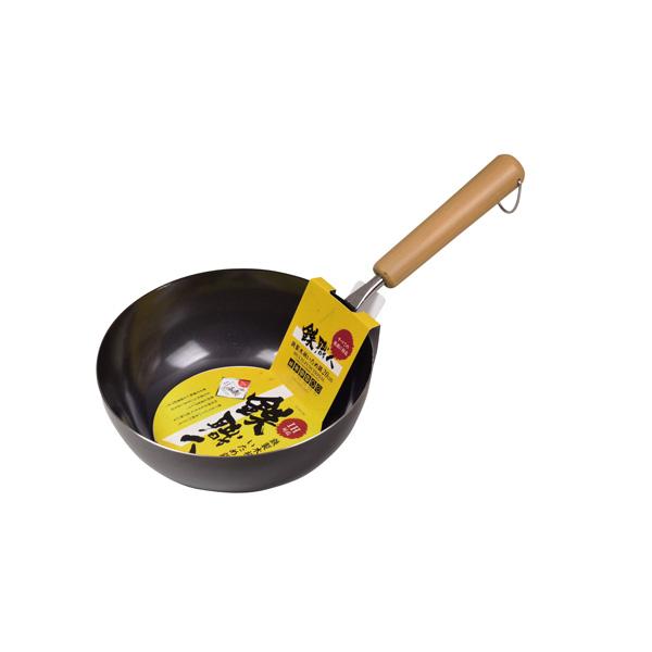 パール金属 鉄職人 鉄製木柄いため鍋20cm