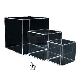 【まとめ買い10個セット品】アクリルディスプレイ サイコロトーメー 4面体51769-3 180角
