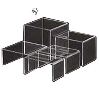 【まとめ買い10個セット品】アクリルディスプレイ コの字展示台 30639 特大