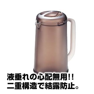 【まとめ買い10個セット品】業務用 BK ノンウェットピッチャー 1.2L スモークブラウン メイチョー