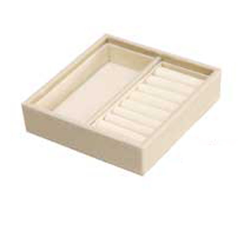 【まとめ買い10個セット品】シンビ ジュエリーBOX(ジュエリーボックス) JB-101 ベージュ