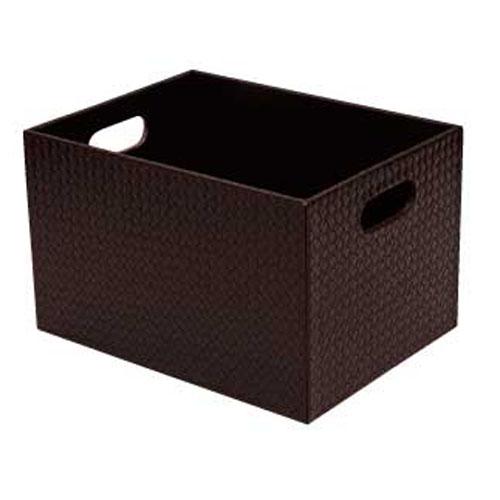 【まとめ買い10個セット品】シンビ 脱衣カゴ BOX式(ボックス式) TM-OA ブラウン