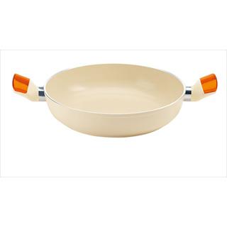 『 両手鍋 IH IH対応 』グッチーニIHセラミックコート浅型両手鍋 2280 24cm オレンジ