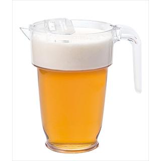 【まとめ買い10個セット品】スタッキング ビールピッチャー [専用フタ付] メイチョー