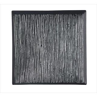 【まとめ買い10個セット品】エルバ スクエア プレート 黒  (M)73/4インチ メイチョー