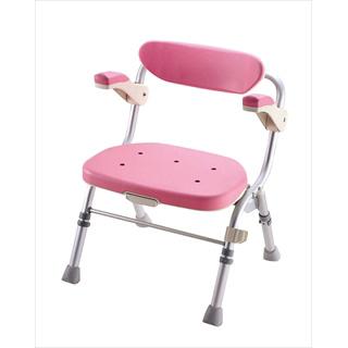 折りたたみシャワーチェア R型ピンク 【 業務用 】 【 送料無料 】 【20P05Dec15】 メイチョー