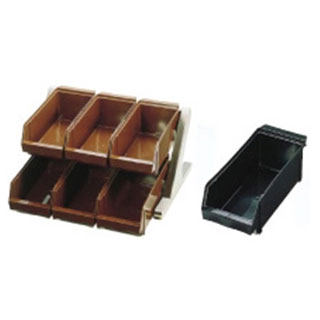 『 カトラリーボックス オーガナイザー 』SA18-8デラックス オーガナイザー 2段3列[6ヶ入] ブラック