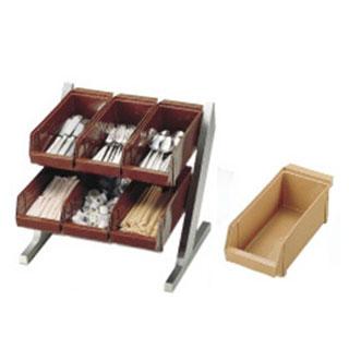 『 カトラリーボックス オーガナイザー 』SA18-8コンパクトオーガナイザー 2段3列[6ヶ入]キャメル