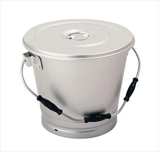 【まとめ買い10個セット品】アカオ アルマイト 丸型一重食缶 14L メイチョー