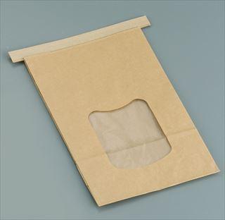 クラフト窓付きティンタイ袋(ワイヤー付) L(400枚入) メイチョー