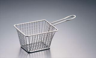 【まとめ買い10個セット品】AM ステンレス ミニフライバスケット 正方形 大 MSQBSKT 【メイチョー】