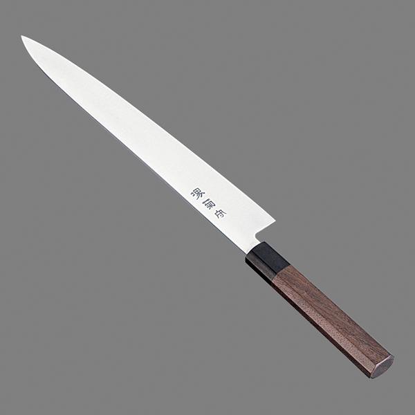 堺菊守 和式 筋引(両刃)紫檀柄 27cm 【メイチョー】