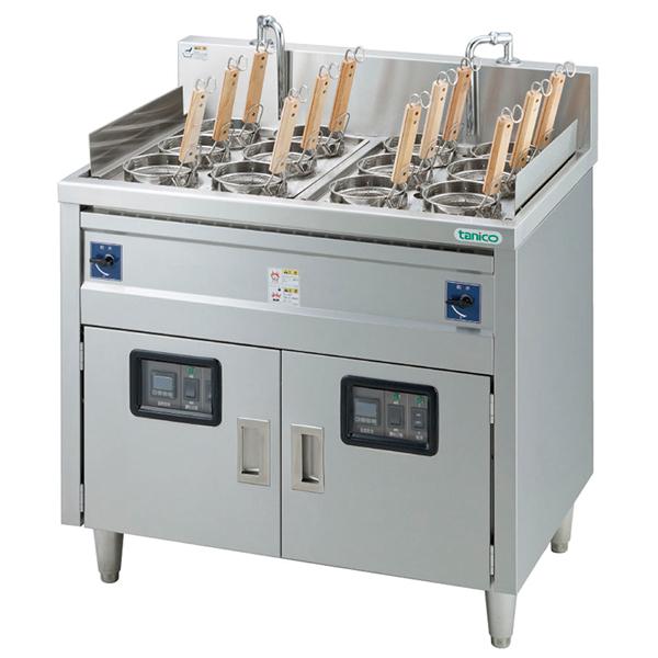 電気式ゆで麺器 TEU-85W 2槽式60Hz 【 メーカー直送/代引不可 】 【メイチョー】