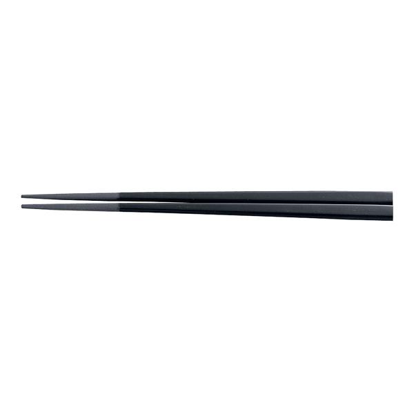 メラミン すべり止め付角箸(50膳入) 21cm 黒 【メイチョー】
