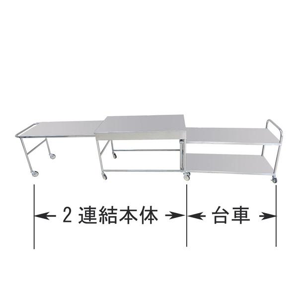 18-8給食配膳台 2連結本体 【メイチョー】