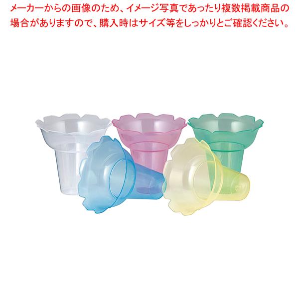PP フラワーカップ 018 5色アソート(500ヶ入) 【メイチョー】