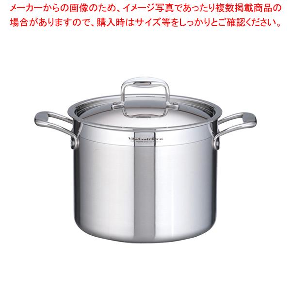 ステンレス ビタクラフト・プロ 寸胴鍋 (蓋付)24cm No.0213【 寸胴鍋 】 【メイチョー】