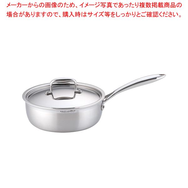 ステンレス ビタクラフトプロ ソテーパン (蓋付)24cm No.0133 【メイチョー】