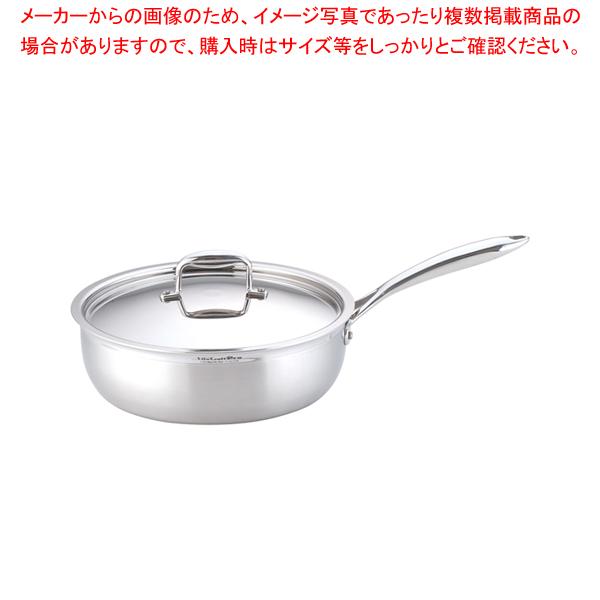 ステンレス ビタクラフトプロ ソテーパン (蓋付)28cm No.0134 【メイチョー】
