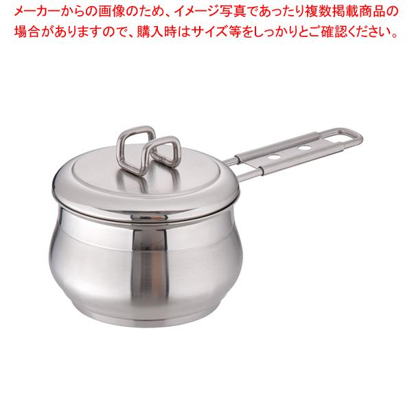 18-10タミー ソースパン(蓋付) 12cm 【メイチョー】