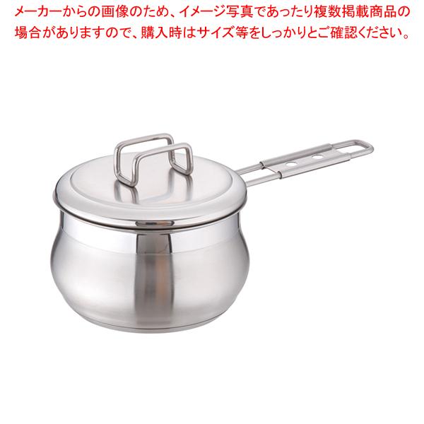 18-10タミー ソースパン(蓋付) 14cm 【メイチョー】