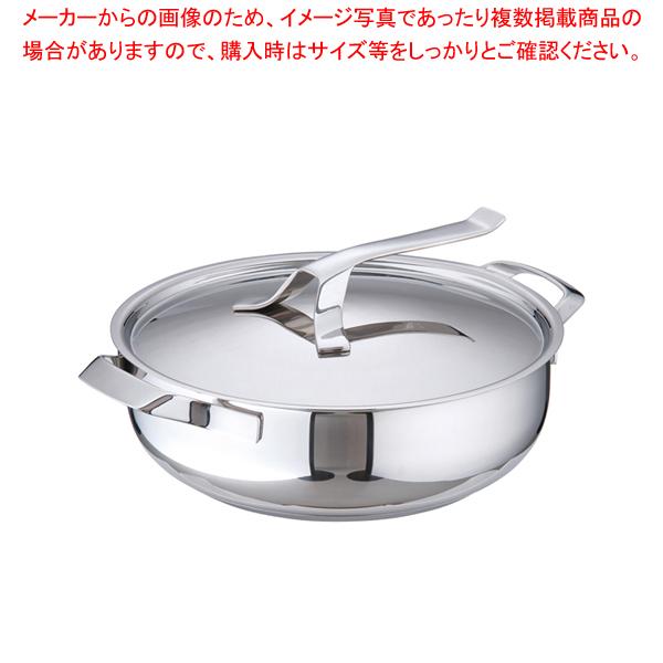 18-10マイポット キャセロール (蓋付) 28cm 【メイチョー】