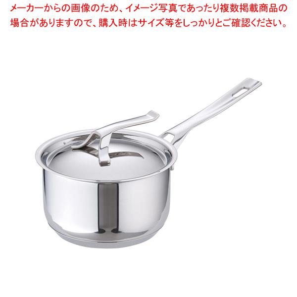 18-10マイポット ソースパン(蓋付) 14cm 【メイチョー】