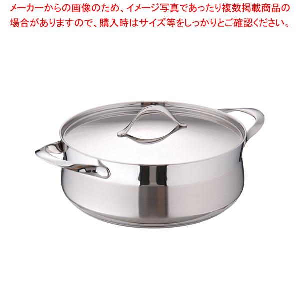 18-10マイレディ キャセロール (蓋付) 28cm 【メイチョー】