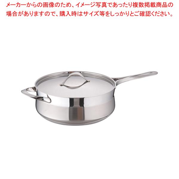 18-10マイレディ ソテーパン(蓋付) 28cm 【メイチョー】