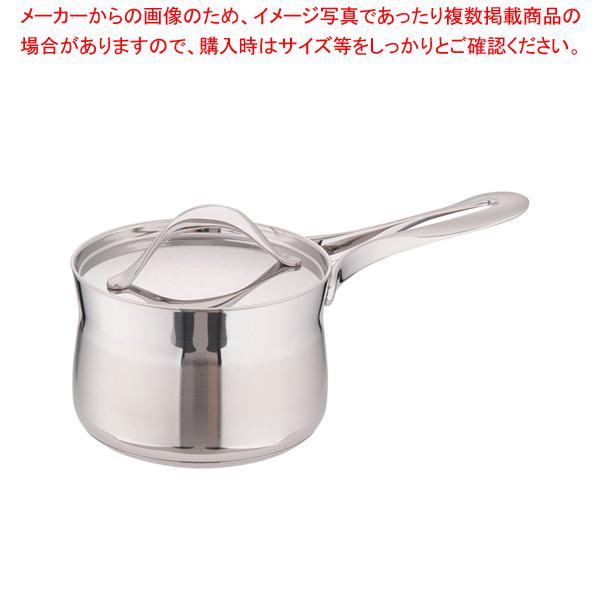 18-10マイレディ ソースパン(蓋付) 14cm 【メイチョー】