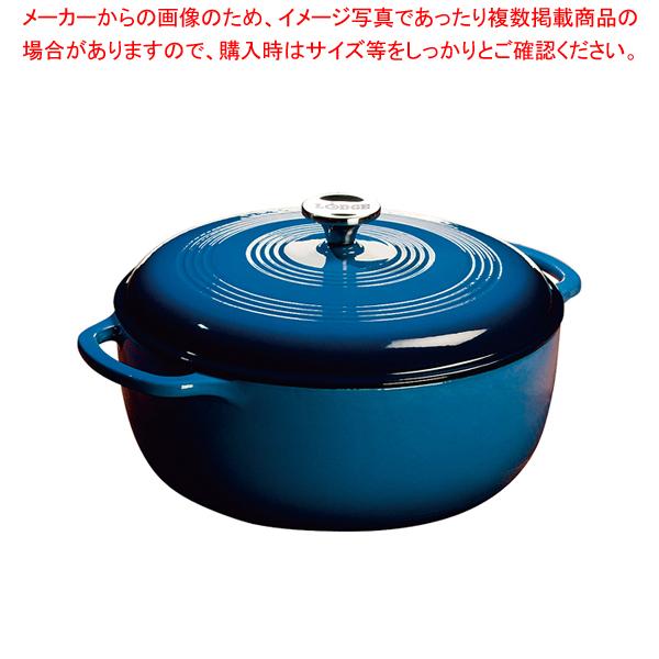 ロッジ エナメルダッチオーブン 7.8クォート ブルー 【メイチョー】