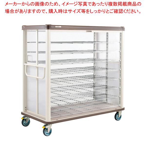 常温配膳車 シャッター式 ワイドタイプ JCSW42R カフェブラウン 【メイチョー】