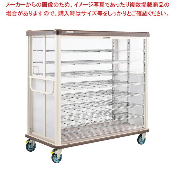 常温配膳車 シャッター式 ワイドタイプ JCSW48R カフェブラウン 【メイチョー】