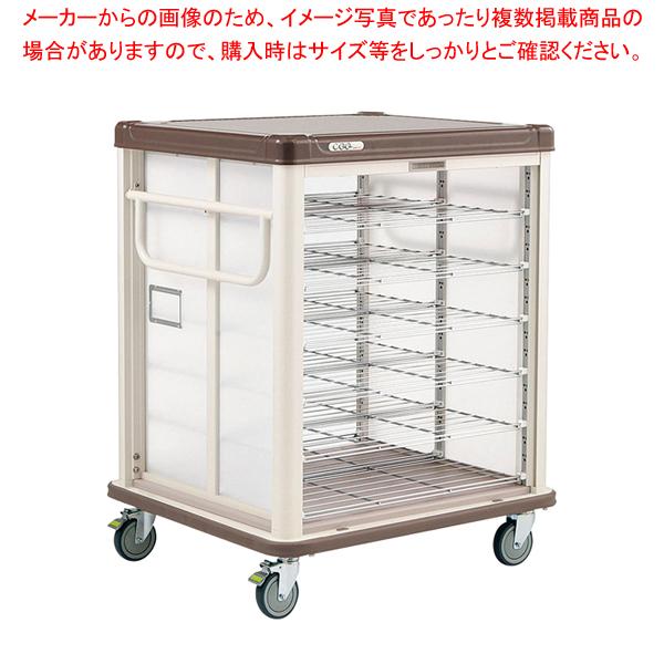 常温配膳車 シャッター式 リフトタイプ JCSL20R カフェブラウン 【メイチョー】