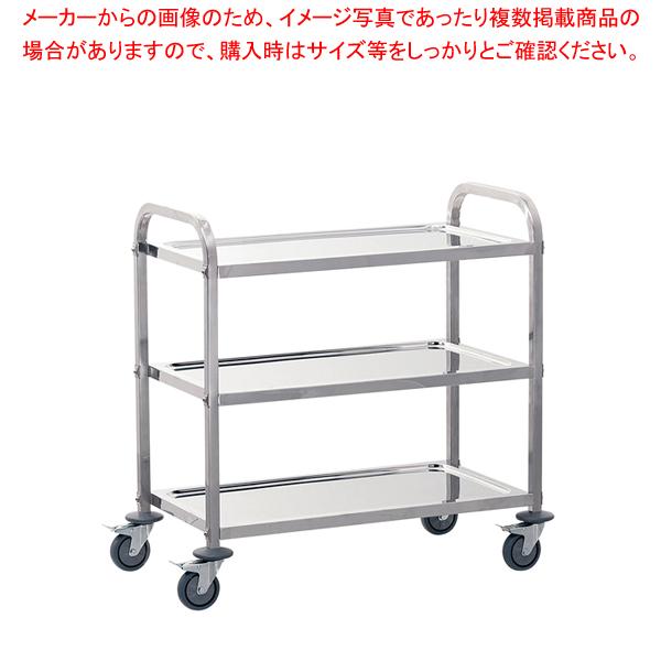 遠藤商事 / TKG サイレント キッチンワゴン 3段 M【メイチョー】