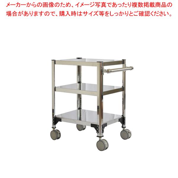 両面棚ワゴンキャスター付 F6W-A【 サービスワゴン 食品運搬台車 】 【メイチョー】
