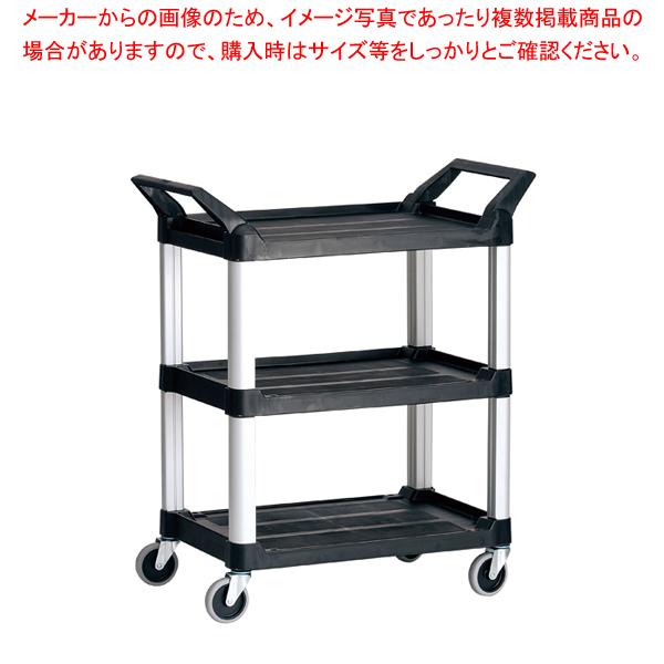 トラスト Hi5ユーティリティーカート S3段 4011 ブラック 【メイチョー】