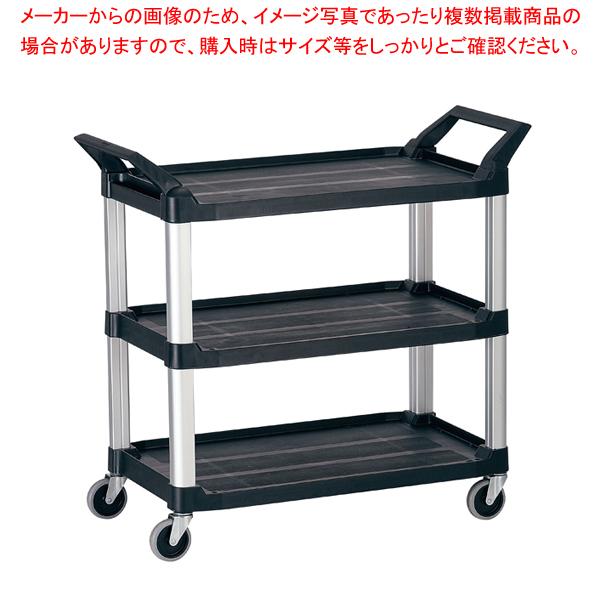 トラスト Hi5ユーティリティーカート L3段 4021 ブラック 【メイチョー】