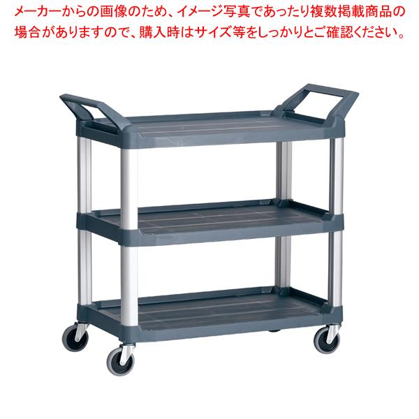 トラスト Hi5ユーティリティーカート L3段 4021 グレー 【メイチョー】