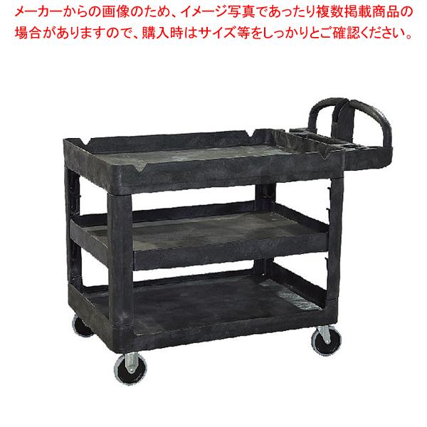 トラスト シェルフユーティリティーカート 3段 4043 ブラック 【メイチョー】