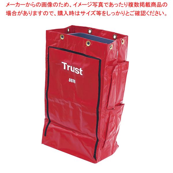トラスト クリーニングカート用 ポリライナー6978 レッド 【メイチョー】