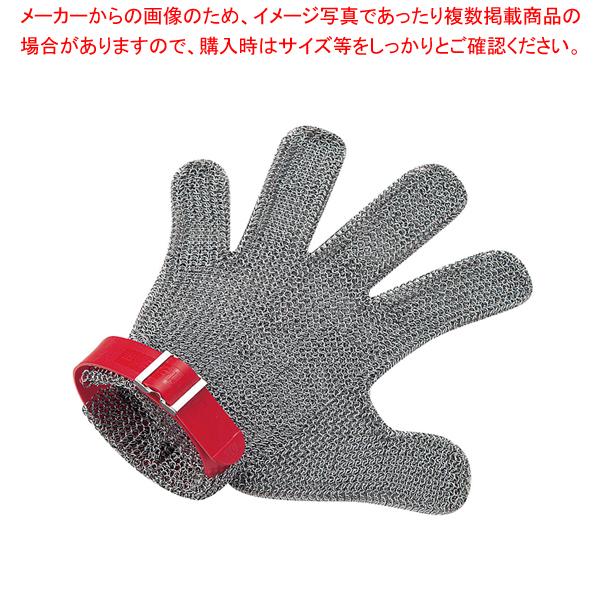 ニロフレックス メッシュ手袋5本指 M M5L-EF 左手用(赤) 【メイチョー】