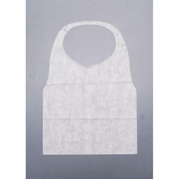 不織布Y型エプロン(1600枚入) 白 【メイチョー】