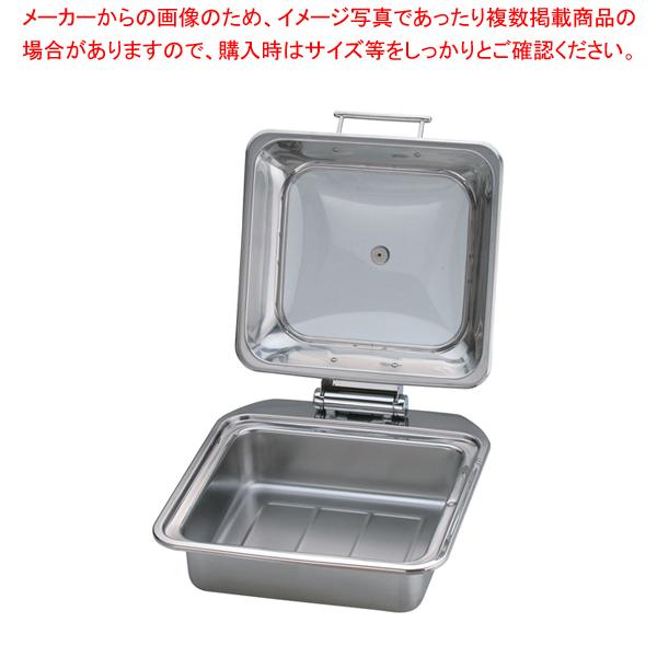 KINGO IH角チェーフィング FP無 ガラスカバー式2/3 D102 【メイチョー】
