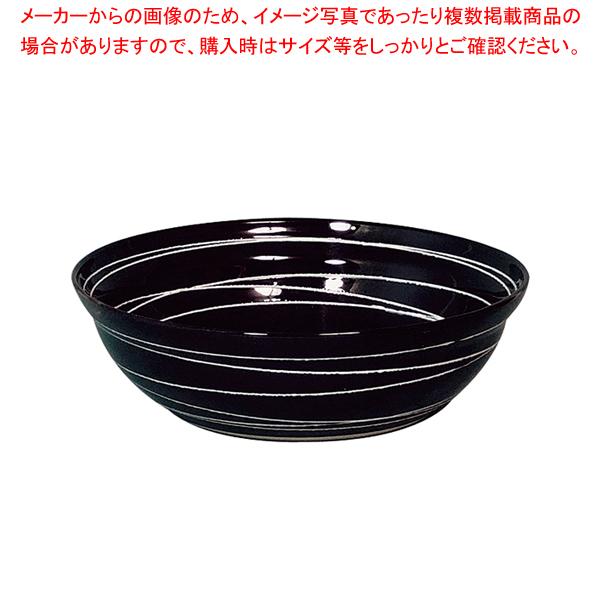 和鉢e-チェーフィング専用和鉢350 黒渦 PS-15116 【メイチョー】