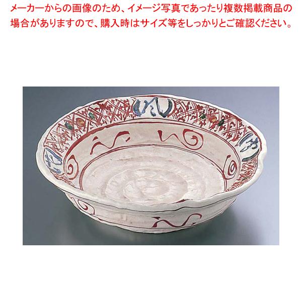 赤絵雪月花9.0大皿 深 B03-33【メイチョー】【器具 道具 小物 作業 調理 料理 】