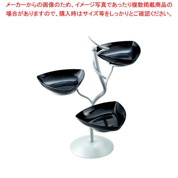 ML アイアンシェイプサービングスタンド Cod.400.02ブラック【メイチョー】【食器 トレー トレイ 盆 飾り台 ショープレート 】