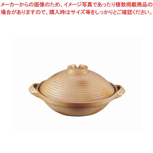 アルミ 電磁用手造り土鍋 楽鍋(新幸楽) 24cm【 料理宴会用 土鍋 】 【メイチョー】